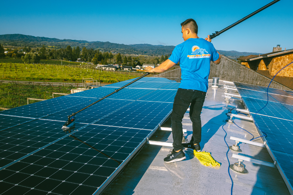 solar panel cleaning bay area