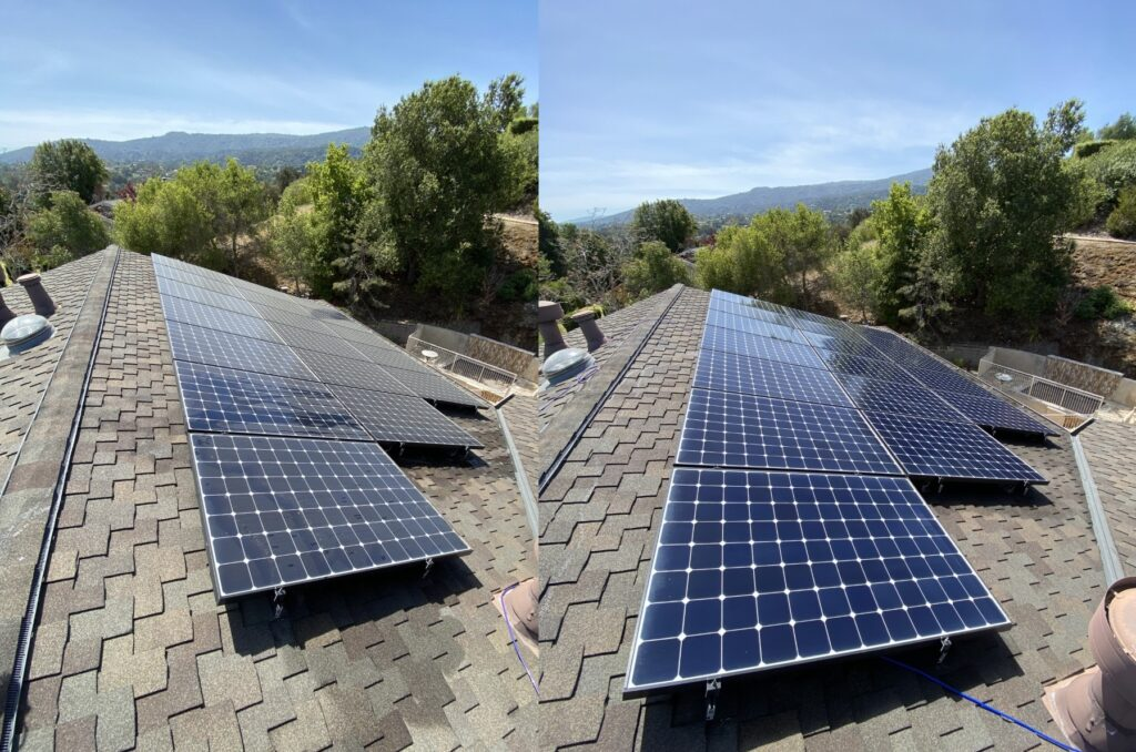 Solar Panel Cleaning Bay Area Before & After